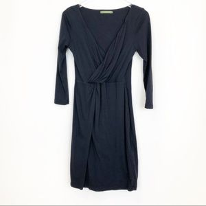 Velvet Navy Soft Faux Twist Dress
